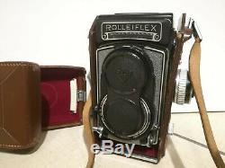 Rolleiflex T Model 1 Zeiss Tessar 75mm f 3,5 Grigio TLR Twin Reflex Camera