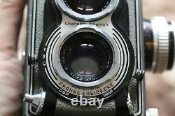 Rolleiflex T Model 2 Zeiss Tessar 75mm f 3,5 Grigio TLR Twin Reflex Camera