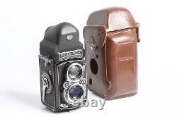 Rolleiflex TLR 6x6 mit Carl Zeiss 2,8/cm T 2,8/80 + Prismensucher + Tasche