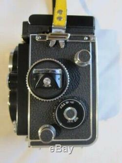 Rolleiflex TLR 75mm f/3.5F Planar White Face. Rare