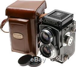 Rollop TLR vintage 6x6 film camera Ennit 2.8/80mm case cap super clean