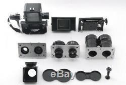SUPER RARE Konica Koni Omega Flex M TLR with58mm 90mm180mm 3Lens SET From Japan