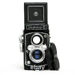 TESTED Yashica D TLR Camera Japan Yashikor 3.5/80 Rolleiflex with Strap 124G 635