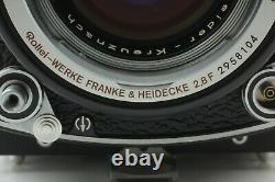 TOP MINT Rare White Face Rollei Rolleiflex 2.8F TLR 80mm f2.8 Hood Filter JAPAN