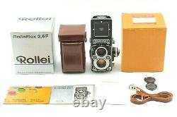 Unused Boxed Rollei Rolleiflex 3.5F TLR Planar 75mm White Face withcase Japan