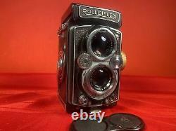 Very Nice Rolleiflex 3.5B Carl Zeiss Tessar 7.5cm 75mm f3.5 Lens 6x6 120 Film