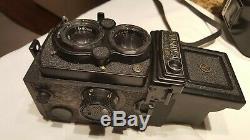 Vintage 1970 Yashica Mat 24-G TLR 120/220 Film Medium Format Camera with CASE