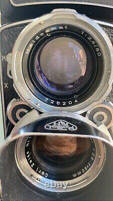 Vintage Rollei Rolleiflex 2.8C Zeiss Planar TLR 120 Medium Format Film Camera