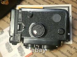 Vintage Yashica Mat 124G Medium Format TLR Film Camera Plus Honeywell Flash