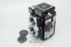 Yashica 44 TLR Medium Format Film Camera with 60mm f/3.5 Lens, Black