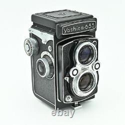 Yashica 635 Twin Lens Reflex TLR 120 6x6 & 35mm Film Camera. NR MINT