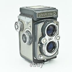 Yashica D Twin Lens Reflex TLR 120 6x6 Film Camera Rare Grey/Grey Colour