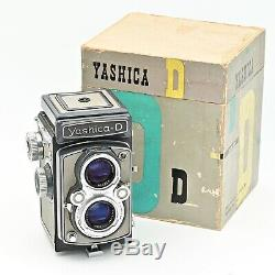 Yashica D Twin Lens TLR 120 6x6 Film Camera. RARE Grey/Grey Colour. IN BOX