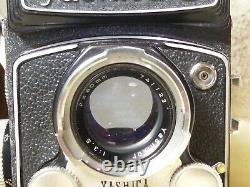Yashica-D Vintage circa 1960, s, TLR Medium Format Film Camera. Yashikor 80mm