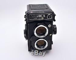 Yashica Mat 124G TLR Film Camera Yashinon f/3.5 80mm Lens with Case READ (#6903)