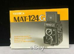 Yashica Mat-124G TLR Film Camera with box, Case and instructions. Store Demo